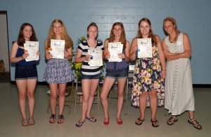 Book club graduation, with teacher Iris Hengst