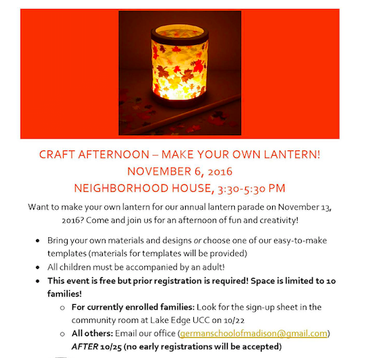 make your own lantern workshop