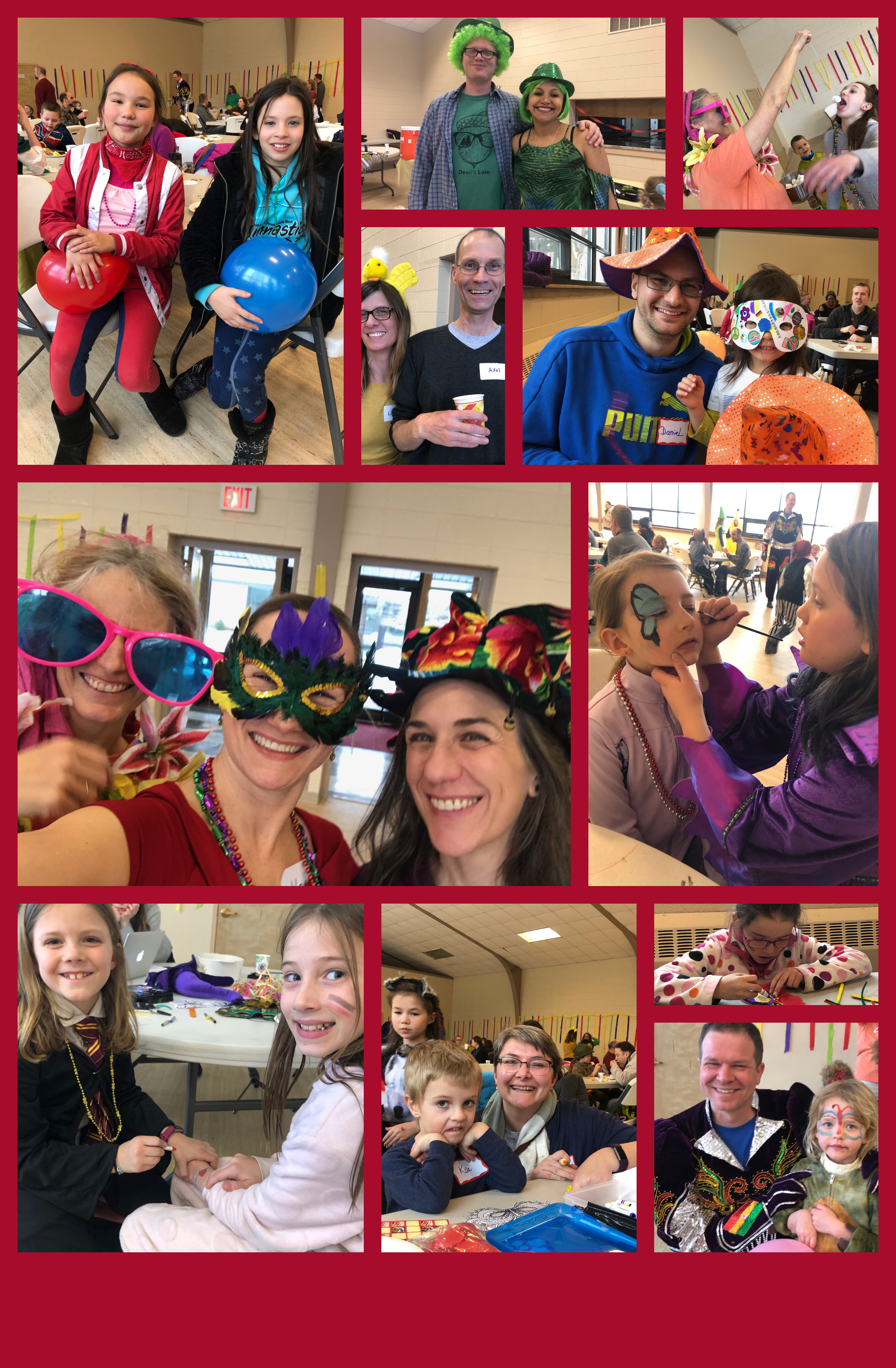 Collage GSoM Fasching 2019